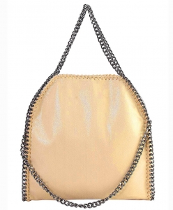 Fashion Chained Designer Satchel with Chain GF6520 GOLD