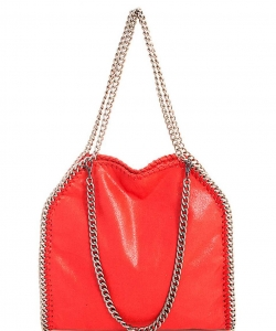 Fashion Chained Designer Satchel with Chain GF6520 CORAL