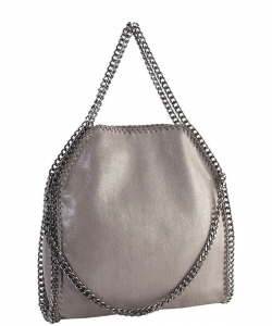 Fashion Chained Designer Satchel with Chain GF6520 Grey
