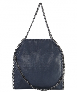 Fashion Chained Designer Satchel with Chain GF6520 NAVY