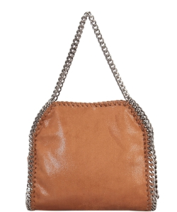 Fashion Chained Designer Satchel with Chain GF6630 BROWN