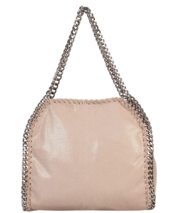 Fashion Chained Designer Satchel with Chain GF6630 TAUPE