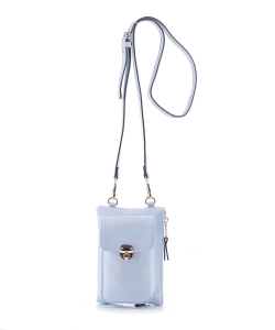 Women's Small Crossbody Cell phone Bag GS19548 LBLUE