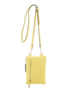 Women's Small Crossbody Cell phone Bag GS19548 YELLOW