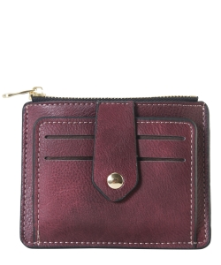 Compact Credit Card Case Wallet GS300  BURGUNDY