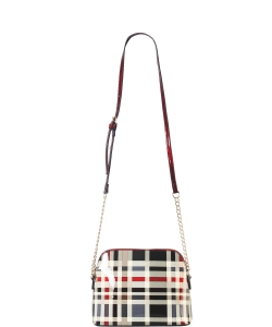 Plaid Check Dome-Shaped Crossbody Bag GZT6994 RED