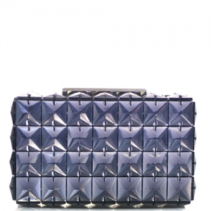 Elegant Cube Bebe Rose Evening Clutch Embellished Accent H14008 Black