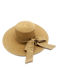 Sun Hat with Ribbon Bow  HA300276 TAUPE