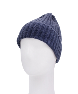 Knitted Beanie Hat HA320007 BLUE