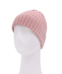 Knitted Beanie Hat HA320007 MAUVE