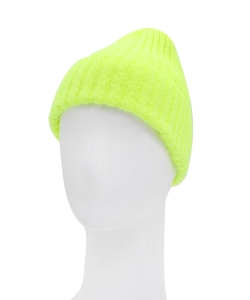 Knitted Beanie Hat HA320007 NEON YELLOW