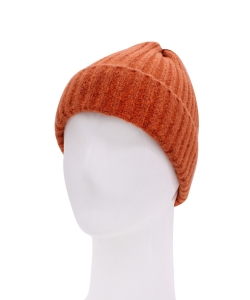 Knitted Beanie Hat HA320007 ORANGE