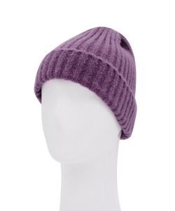 Knitted Beanie Hat HA320007 VIOLET