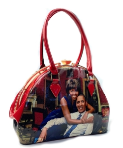 Obama Jewel-Top Royalty Satchel HB1916-F RED