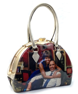 Obama Jewel-Top Royalty Satchel HB1916-F SHELL