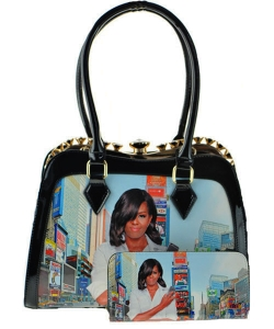 2 in 1 Michelle Obama Fashion Bag HB1919 BLACK