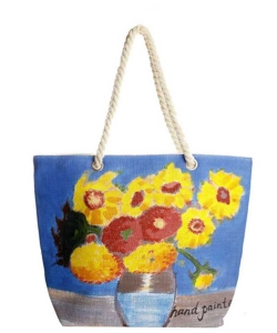 Flower Hand Painted Tote Bag HBG-103530