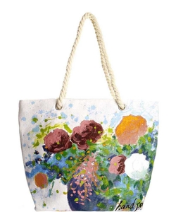 Flower Hand Painted Tote Bag HBG-103531