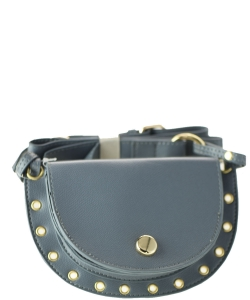 Womens Waist Bag Fanny Pack PU Leather Bag Belt Purse Small Purse Phone Pouch HBG102700 GRAY