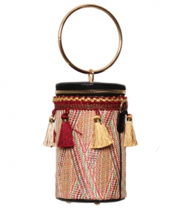 Fashion Round Tassel Crossbody Bags HBG103006 MULTI