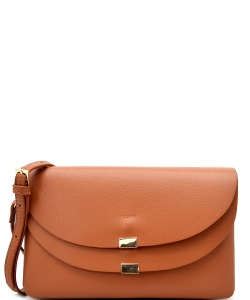 Designed Faux Leather Clutch HR0001 CROSS BODY PURSE TAN
