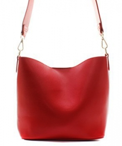 Fashion Faux Leather Messenger Bag HR073 RED
