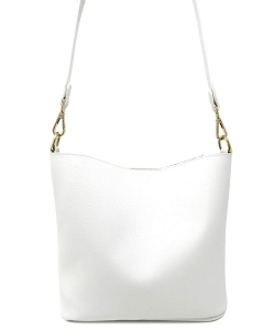 Fashion Faux Leather Messenger Bag HR073 WHITE