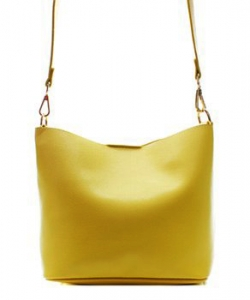 Fashion Faux Leather Messenger Bag HR073 YELLOW