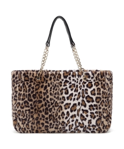 Faux FurTote Bag HT1001 LEOPARD