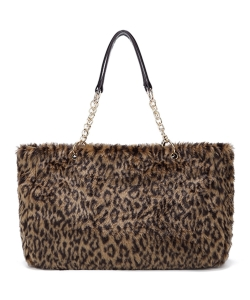 Faux FurTote Bag HT1001 LEOPARD2