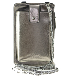 Cellphone Holder w/ Metal Strap and Front Strap Snap Closure
