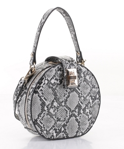 Snakeskin Round Crossbody Bag JBS-2571  GRAY