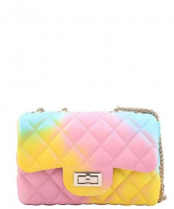 Designer Cute Tender Rainbow Jelly Crossbody Bag JP120R RAINBOW 1