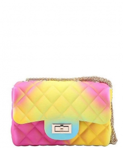 Designer Cute Tender Rainbow Jelly Crossbody Bag JP120R RAINBOW 2