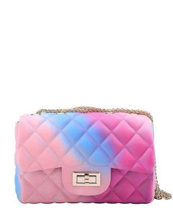 Designer Cute Tender Rainbow Jelly Crossbody Bag JP120R RAINBOW 3