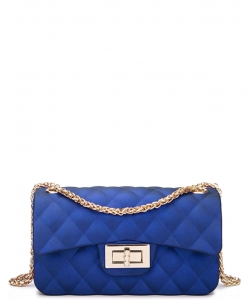 Quilted Matte Jelly Small 2 Way Shoulder Bag JP067 RBLUE