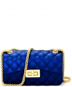 Quilted Jelly Small 2 Way Shoulder Bag JP067 R BLUE