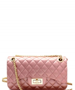 Quilted Matte Jelly Small 2 Way Shoulder Bag JP067 PINK