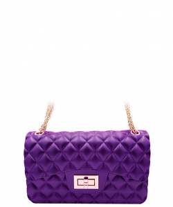3 Compartments Trendy Wholesale Fashion Cross Body Bag JP067 SMALL PURPLE