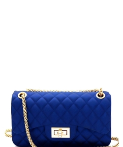 Quilted Jelly Small 2 Way Shoulder Bag JP067 ROYAL BLUE