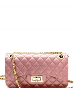 3 Compartments Trendy Wholesale Fashion Cross Body Bag JP068 MEDIUM PINK