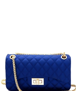 3 Compartments Trendy Wholesale Fashion Cross Body Bag JP068 MEDIUM ROYAL BLUE