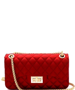3 Compartments Trendy Wholesale Fashion Cross Body Bag JP068 MEDIUM RED