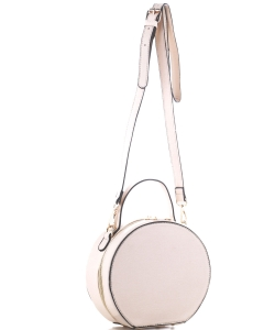 Faux Leather Crossbody Bag JX19136 BEIGE