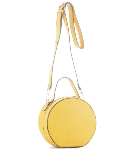 Faux Leather Crossbody Bag JX19136 MUSTARD