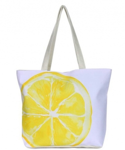 Canvas Summer Tote Beach Bag With Inner Zipper Pockets KBG102