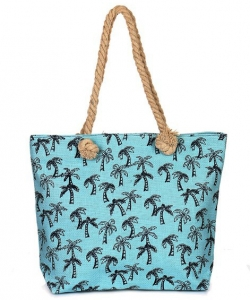Canvas Summer Tote Beach Bag With Inner Zipper Pockets KBG111