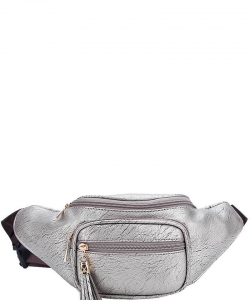 Designer Chic Waist Bag  KL089 PEWTER