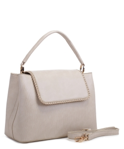 New Fashion Satchel Bag KLM-1856 BEIGE
