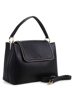 New Fashion Satchel Bag KLM-1856 BLACK